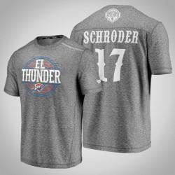 Donner Dennis Schroder & 17 Latino Heritage Nacht Clutch Shooting meliertes Grau-T-Shirt