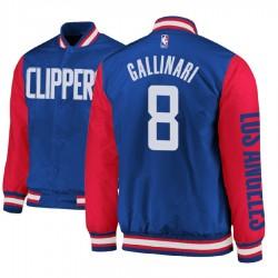 Herren Danilo Gallinari Los Angeles Clippers # 8 Royal Satin Voll Snap-Jacke