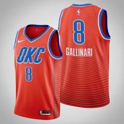 Männer Oklahoma City Thunder Danilo Gallinari # 8 Orange Statement Trikot