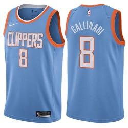 Herren 2017-18 Saison Danilo Gallinari Los Angeles Clippers # 8 Stadt Edition Blue Swingman Trikot