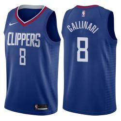 Herren Danilo Gallinari Los Angeles Clippers # 8 Icon Blau Swingman Trikot
