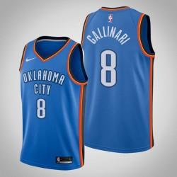 Männer Oklahoma City Thunder Danilo Gallinari # 8 Blue Icon Trikot