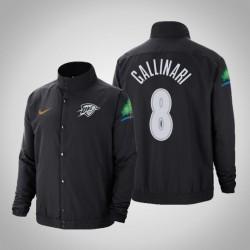 Männer Danilo Gallinari Oklahoma City Thunder # 8 Charcoal Stadt DNA in voller Schnapp Jacke