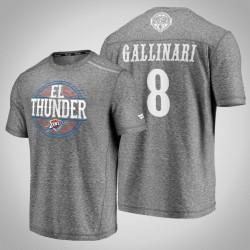 Donner Danilo Gallinari # 8 Latino Heritage Nacht Clutch Shooting meliertes Grau-T-Shirt