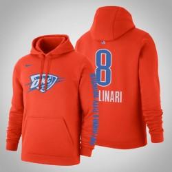 Oklahoma City Thunder # 8 Danilo Gallinari Statement orange 2020 Saison PulloverHoodie