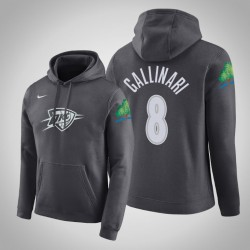 Oklahoma City Thunder # 8 Danilo Gallinari Stadt Anthrazit 2020 Saison PulloverHoodie
