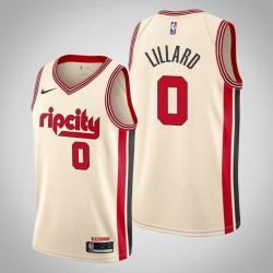 2019-20 Blazer Damian Lillard & 0 Creme City Jersey