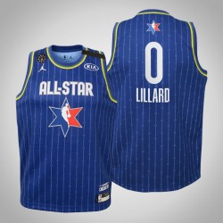 Jugend Portland Trail Blazers Damian Lillard & 0 Blau 2020 NBA All-Star Game Jersey