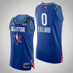 Blazer Damian Lillard & 0 2020 NBA All-Star Game Authentic Blau Jersey