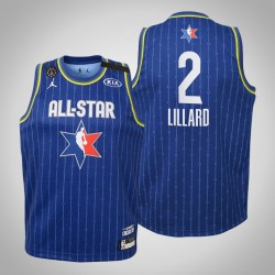 Jugendteam LeBron Damian Lillard & 2 Blazer Blau 2020 NBA All-Star Game Jersey