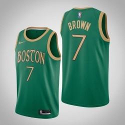2019-20 Celtics Jaylen Brown & 7 Kelly Green City Jersey