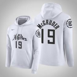 Los Angeles Clippers & 19 Rodney McGruder Stadt Weiß 2020 Jahreszeit PulloverHoodie