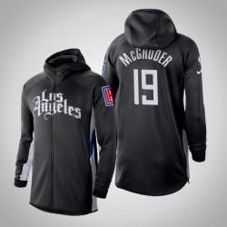 Herren Clippers Rodney McGruder & 19 verdient Schwarz 2020 Saison Showtime Hoodie