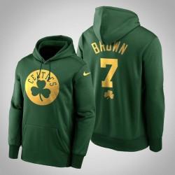 Jaylen Brown Celtics & 7 Green St. Patrick Day Golden Begrenzte PulloverHoodie