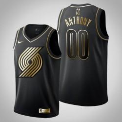 Portland Trail Blazers Carmelo Anthony & 00 Schwarz Jersey - Golden Edition