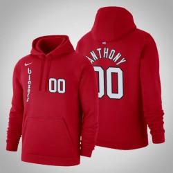 Portland Trail Blazers & 00 Carmelo Anthony Hardwood Classics Red 2020 Jahreszeit PulloverHoodie