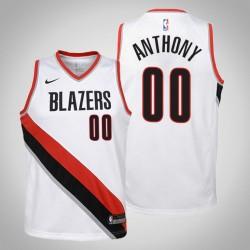Jugend Carmelo Anthony Portland Trail Blazers & 00 Verband Weiß 2020 Jahreszeit Jersey