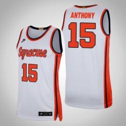 Herren Carmelo Anthony NCAA Syracuse Orange u 15 White Retro Limited College Basketball Nike Jersey
