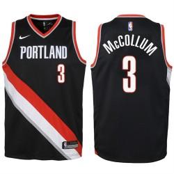 Jugend 2017-18 Saison CJ McCollum Portland Trail Blazers & 3 Icon Schwarz Swingman Jersey