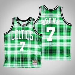 Herren Celtics Jaylen Brown & 7 Green Private School Swingman Holz Classics Jersey