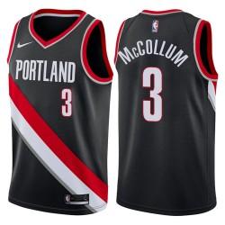 Männer 2017-18 Saison CJ McCollum Portland Trail Blazers & 3 Icon Schwarz Swingman Jersey