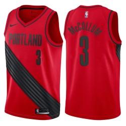 Männer 2017-18 Saison CJ McCollum Portland Trail Blazers & 3 Statement Red Swingman Jersey