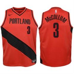 Jugend 2017-18 Saison CJ McCollum Portland Trail Blazers & 3 Statement Red Swingman Jersey