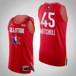 Jazz Donovan Mitchell & 45 2020 NBA All-Star Game Authentic Red Jersey