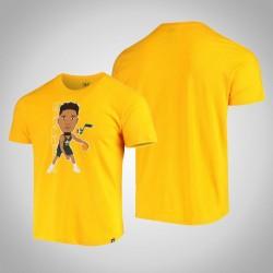 Jazz Donovan Mitchell & 45 Spieler-Grafik Bobblehead melierte Gold-T-Shirt