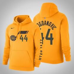 Utah Jazz & 44 Bojan Bogdanovic Statement Gold-2020 Saison PulloverHoodie