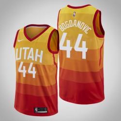 Männer Utah Jazz Bojan Bogdanovic und 44 orange Swingman Jersey - Stadt