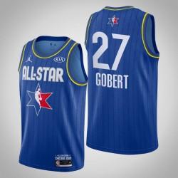 Utah Jazz Rudy Gobert & 27 2020 NBA All-Star Game Reserves Blau Jersey