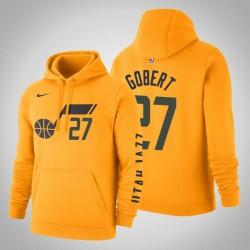 Utah Jazz & 27 Rudy Gobert Statement Gold-2020 Staffel PulloverHoodie