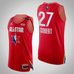 Jazz Rudy Gobert & 27 2020 NBA All-Star Game Authentic Red Jersey