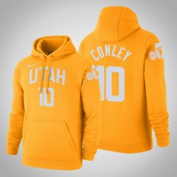 Utah Jazz & 10 Mike Conley City Gold 2020 Saison PulloverHoodie