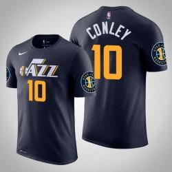 Männer Mike Conley Utah Jazz & 10 Icon Navy Name & Nummer T-Shirt