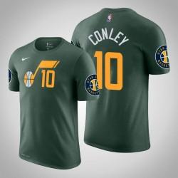 Männer Mike Conley Utah Jazz & 10 verdient Grün Name & Nummer T-Shirt