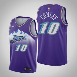 Jazz 2019-20 Mike Conley & 10 Lila Throwback Jersey