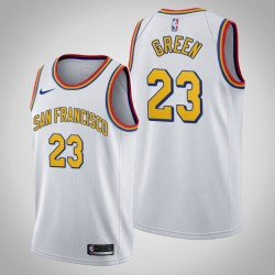 Golden State Warriors Draymond Green & 23 White 2020 Saison-Klassiker San Francisco Jersey