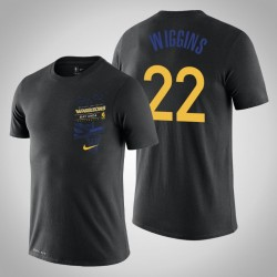 Golden State Warriors Andrew Wiggins # 22 Black Backboard T-Shirt