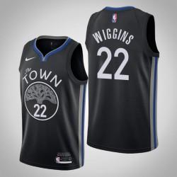 2019-20 Krieger Andrew Wiggins # 22 Black City Trikot