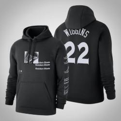 Krieger # 22 Andrew Wiggins Distorted Logo Pullover SchwarzesHoodie