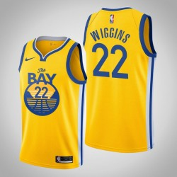 2019-20 Krieger Andrew Wiggins # 22 Yellow Statement Trikot
