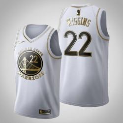Golden State Warriors Andrew Wiggins # 22 Golden Edition Weiß Trikot