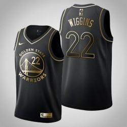 Golden State Warriors Andrew Wiggins # 22 Golden Edition Schwarz Trikot