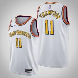 Golden State Warriors Klay Thompson & 11 White 2020 Saison-Klassiker San Francisco Jersey