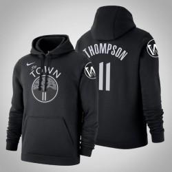 Golden State Warriors & 11 Klay Thompson Stadt Schwarz 2020 Jahreszeit PulloverHoodie
