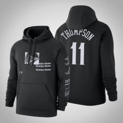 Krieger & 11 Klay Thompson Distorted Logo Pullover SchwarzesHoodie