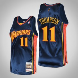 Männer Krieger Klay Thompson & 11 Navy 2009 Holz Classics authentisches Jersey