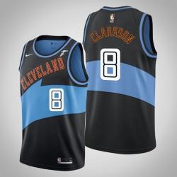 Cavaliers 2019-20 Jordan Clarkson & 8 Black Throwback Jersey